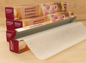 Baking paper rolls for supermarkets