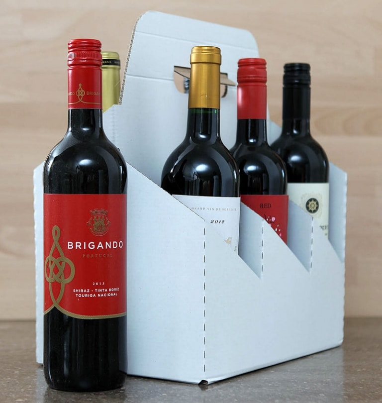Bottle carriers branded or plain for retailers