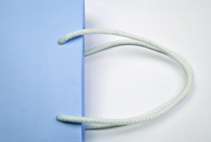 Paper carrier bags with rope handle