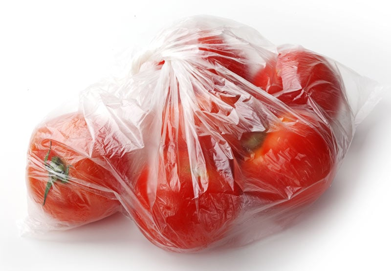 Polythene produce bags for supermarkets and retailers