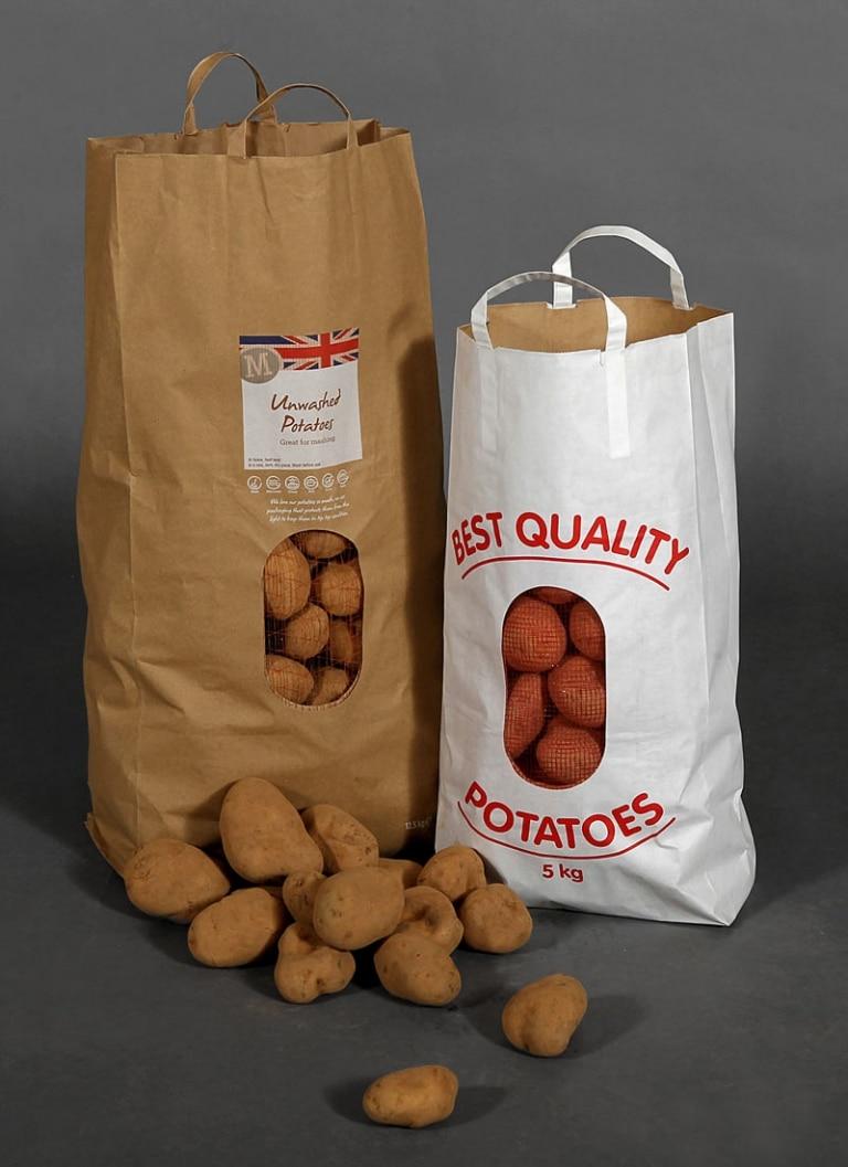 Block bottom potato sacks