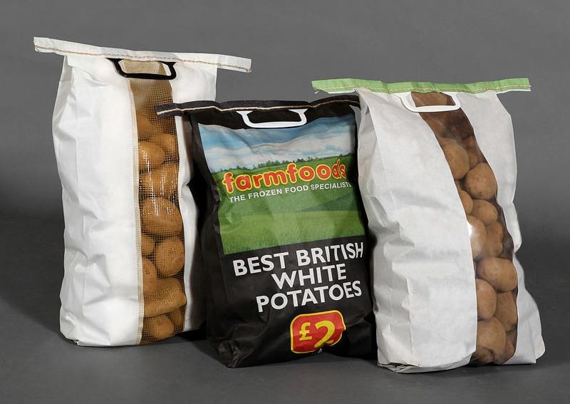 Potato paper sacks with handles