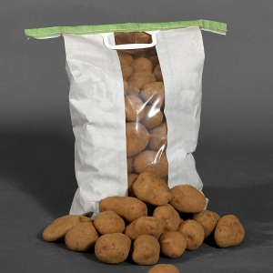 Clear window potato sacks