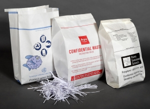 Secure document shredding bags