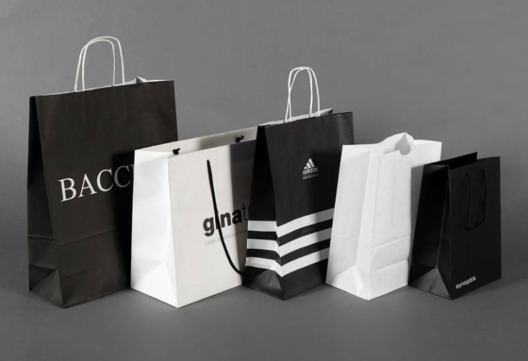 Paper carrier bags for fashion retailing